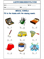 English Class-Nursery-Medial Vowels - 02