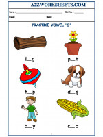 English Class-Kindergarten-Vowel O