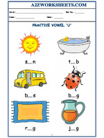 English Class-Kindergarten-Vowel U