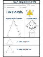 Maths Class-Kindergarten-Shape Triangle