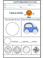 Maths Class-Kindergarten-Shape Circle