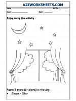 English Nursery Activity - Pasting Stars