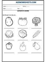 Language French Worksheet - LES FRUITS ET LEGUMES