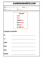 Language French Worksheet - Verbe être