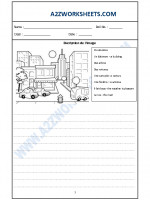 Language French Worksheet - Decription de l'image