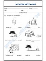 Language French Worksheet - Les Prépositions