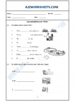 Language French Worksheet - Les expressions avec - Faire