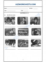 Language French Worksheet - Les Verbes en –er