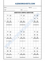 Maths Addition Worksheet-01 (Simple Addition)