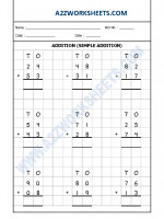 Maths Addition Worksheet-02 (Simple Addition)