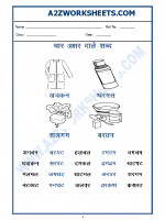 Language Hindi Worksheet - char akshar shabd