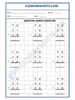 Maths Addition Worksheet-03 (simple addition)