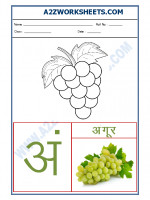 Language Hindi varnmala - Akshar ang (अं)