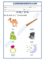 Language Hindi Worksheet - 'chander bindu' ki matra