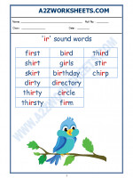 English English Phonics Sounds - 'ir' sound words