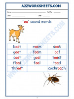 English English Phonics Sounds - 'oa' sound words