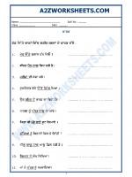 Language Punjabi Grammar - Karak