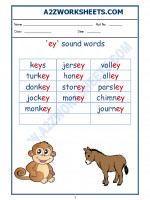 English English Phonics Sounds - 'ey' sound words