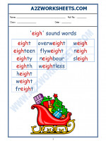 English English Phonics Sounds - 'eigh' sound words
