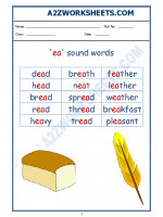 English English Phonics Sounds - 'ea' sound words