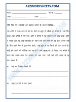 Language Hindi - Unseen Passage in Hindi-11