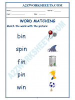 English Class-Kindergarten-Word Matching-02