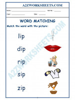 English Class-Kindergarten-Word Matching-03