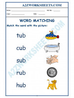 English Class-Kindergarten-Word Matching-04