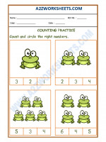 Maths Number Recognition Worksheet - 01