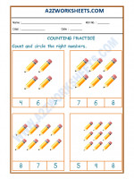 Maths Number Recognition Worksheet - 02