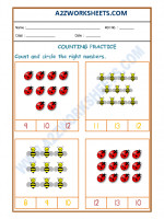 Maths Number Recognition Worksheet - 03