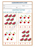 Maths Number Recognition Worksheet - 04