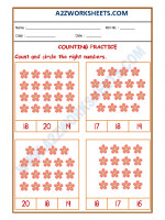 Maths Number Recognition Worksheet - 07