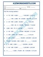 Maths Maths Worksheet - Place Value-01