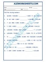Maths Maths Worksheet - Place Value-02