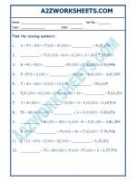 Maths Maths Worksheet - Place Value-03