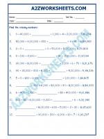 Maths Maths Worksheet - Place Value-05
