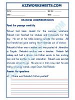 English English Comprehension - 15
