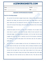 English English Comprehension Passage-20