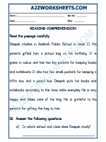 English English Comprehension - 20