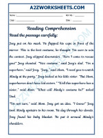 English English Comprehension - 24