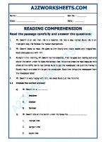 English English Comprehension - 15
