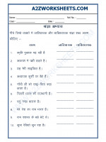 Language Hindi Grammar - Sangya Worksheet-04
