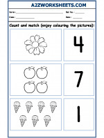 Maths Nursery - Count and Match-01