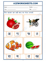 Language Hindi Worksheet - sahi akshar pehchano(Find the correct alphabet)-04