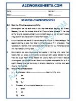 English English Comprehension - 10