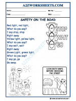 General-Awareness GA Worksheets-Safety on the road