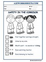 General-Awareness GA Worksheets-Safety in corridor