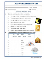 English Adjectives Practice Time