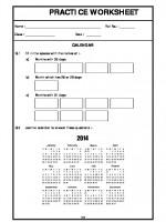 Maths Calendar